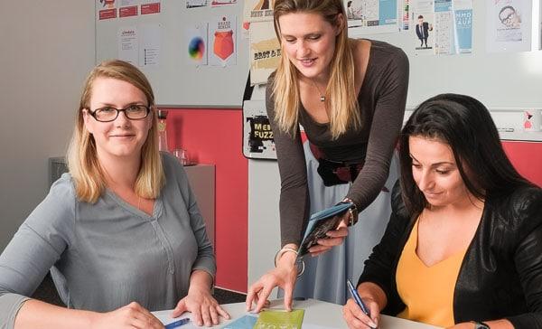 Teamarbeit im Institut Charlottenburg bei cimdata