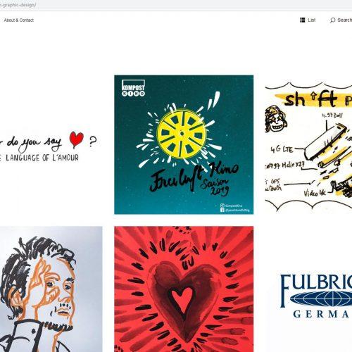 gesammelte Arbeiten auf Website