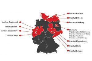 Standorte der cimdata Bildungsakademie deutschlandweit