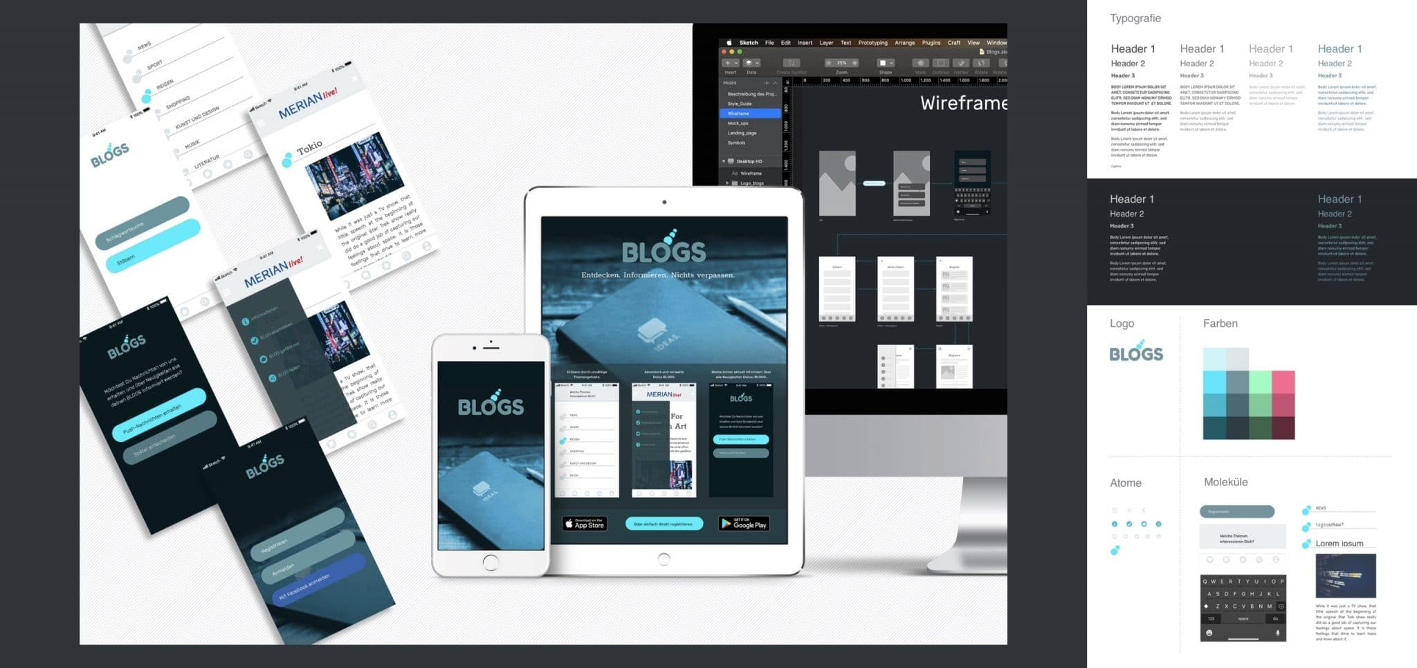 Sketch Mockup User Interface Design